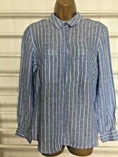 M&S Shirt UK12, EUR40, Linen, Stripe Long Sleeve,New With Tags RRP £27.50