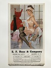 June 1962 Pin Up Girl Calendar w/ Ad Woman Dressing by Fritz Willis