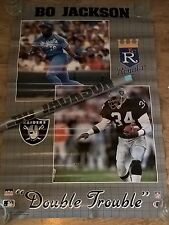 """1989 Starline Bo Jackson """"DOUBLE TROUBLE"""" Poster NEW FACTORY SEALED"""