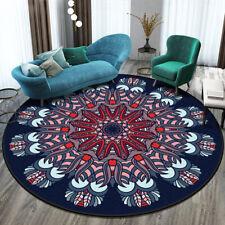 12 Color Round Rug Bohemia Non-Slip Floor Mats Carpet Mandala Soft Vintage Decor