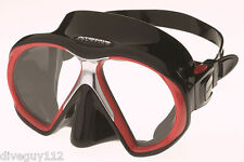 Atomic SubFrame Dive Mask for FreeDiving Scuba Snorkeling Black/Red