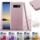 Samsung GALAXY Note 8 Hybrid Bling Glitter Rubber TPU Protective Soft Case Cover