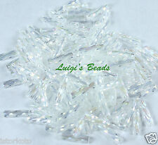 Trans-Rainbow Crystal  #161-TOHO Japanese Glass Twisted Bugle Beads #3 -9mm