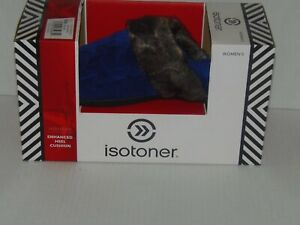 Isotoner Clog Slippers With Faux Fur Trim ~ Size(9.5-10) ~ SAPPHIRE(RM2-GRN-SL3)
