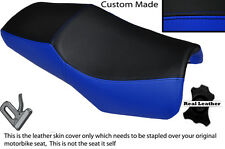 ROYAL BLUE & BLACK CUSTOM FITS YAMAHA FZS 600 98-04 DESIGN 2 LEATHER SEAT COVER