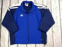 Mens Retro Adidas Full Zip Tracksuit Golf Jacket Climalite 3/4 Sleeves Size XL