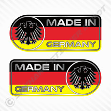 Made In Germany Car Sticker Set Vinyl Decal German Flag Sticker Fits Benz, BMW