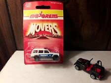 Majorette Movers, The Sheriff's Car, 1990 Made in France, The 4x4 is free.