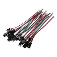 10 Pairs JST SM 3 Pin Male Female Plug Connector Cable For WS2811 LED Strip Lamp