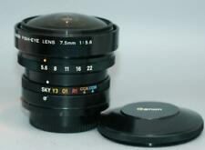 Canon 7.5mm f5.6 Fisheye manual focus lens for A-1 AE-1 F-1 etc. - Nice Mint-!