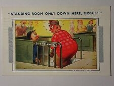 "K557 - ""Standing Room Only"" LADY in GENTS TOILET Comic Bamforth No657 Postcard"