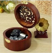 Circle  Carving wooden  ♫ WHAT A WONDERFUL WORLD ♫   MUSIC BOX