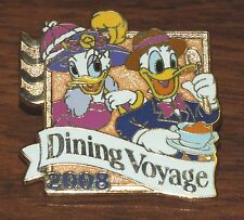 Disney Hotels Dining Voyage 2008 Donald Duck & Daisy Collectible Pin / Brooch!