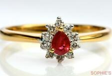 Ruby Yellow Gold Fine Rings
