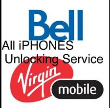 """iPHONE 11""""X""""8 To 3GS (BELL & VIRGIN) CANADA OFFICIAL UNLOCKING SERVICE FAST"""