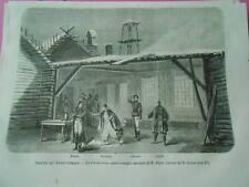Gravure 1861 - Théatre Opéra La Circassienne musique de Auber