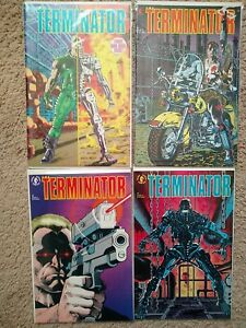 Lot of 4 Terminator #1-4, Dark Horse Comics 1990, Near Mint