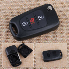 3 Buttons Remote Folding Flip Key Case Fob Shell &Uncut Blank Blade For KIA Soul