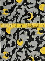 """Alexander Henry Ghastlies Boo! Kitty Fabric Fat Quarter 18"""" X 22"""" Out Of Print"""
