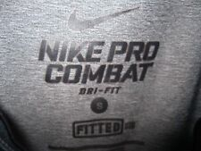 NIKE DRI-FIT PRO COMBAT FITTED S/L ATHLETIC SHIRT S NICE PREOWNED LOW PRICE