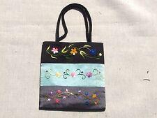 Classy Floral Embroidered Small Vietnamese Silk Handbag