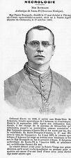 ADP SAINTE-AGATHE MORT MGR PIERRE BOURGADE ARCHEVEQUE SANTA-FE 1879