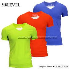 SUBLEVEL HERREN T-SHIRT BASIC-SHIRT drei Farben Gr.S/44,M/46,L/48,XL/50,XX/52
