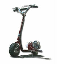 GO FAST 49CC GAS RACE SCOOTER motor CHROME Engine mo-ped ScooterX Dirt Dog Black
