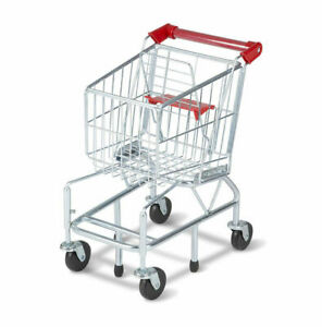 Shopping Cart Toy - Metal Grocery Wagon Pretend Play from Melissa & Doug 4071