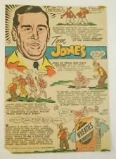 1950's Tom Jones Spark Up Wheaties Breakfast of Champions Comic Ad Dean of Coach