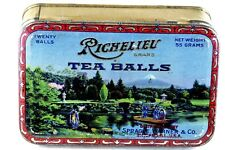Early Vintage Richelieu Tea Balls Sprague, Warner & Co. Tin Nice Graphics