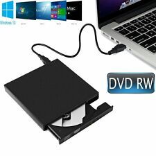 USB 2.0 External DVD RW CD RW DVD Drive Re Writer BURNER Player For PC Laptop.