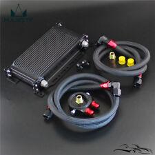 Black 19 Row Oil cooler w/ Bracket + Filter Adapter Hose Kit For Japan Car