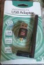 USB Wireless WiFi Adapter 2.4 GHz Antenna 802.11n 150Mbps NEW