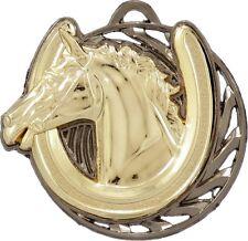 Equestrian Horse Riding 3D 50mm Diameter Medal Inc Neck Ribbon / Engraving