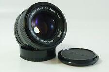 Vintage Lente Canon Lente Fd 50mm 1.4 Canon Fd Monte Ref.221815