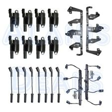 New Coil Package: 8 Ignition Coils + 8 Spark Plug Wires + 2 Brackets + 2 Harness