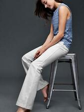 GAP AUTHENTIC 1969 patch pocket flare jeans, white, size 33 Short, NWT