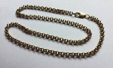 Hallmarked HM 9ct 9k Gold Trace Belcher Chain 18 Inches Long 28.4 Grams