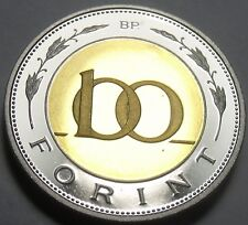 Rare Bi-Metal Proof Hungary 2003-BP 100 Forint~Only 7,000 Minted In Budapest~F/S