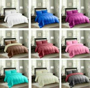 3 Piece Embossed Comforter Bed Sheet Skirt Set with Sham Pillow Case in all Size