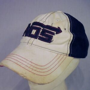 NOS Ball Cap Nitrous Oxide System White Black DIRTY DISTRESSED WORN STAINED