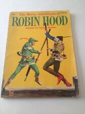 VINTAGE 1955 THE MERRY ADVENTURES OF ROBIN HOOD FOR YOUNGER READERS WONDER BOOK