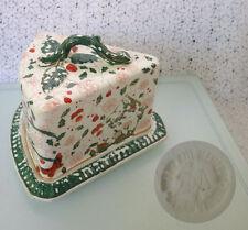 ANTIQUE, FRANZ ANTON MEHLEM, ROYAL BONN CHEESE BUTTER BOX GERMANY c.1860-1920's
