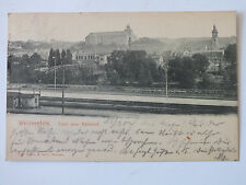 Ak Weissenfels a.S., 1904 gel., Total vom Bahnhof