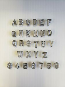 Metal Letters 1/2 inch long Straight Font with Spikes*