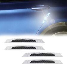3D White Reflective Carbon Fiber Sticker Car Trunk Bumper Protection Strip
