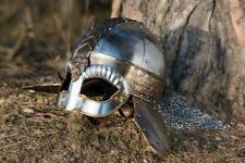 Medieval Helmet Vikings Knight Helmet With Chainmail ~ Steel Reenactment Helmet