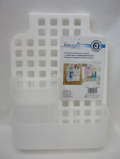 New Blue Canyon Plastic Over Door Bathroom Kitchen Shower Screen Caddy BA1066/WH