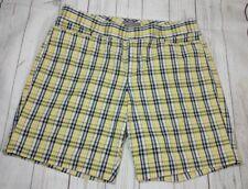 Dockers Collection Women's Petite 12 Mid Rise Curvy Bermuda Walking Shorts Plaid